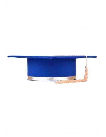 Toca absolvire albastru corai