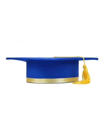 Toca absolvire albastru galben