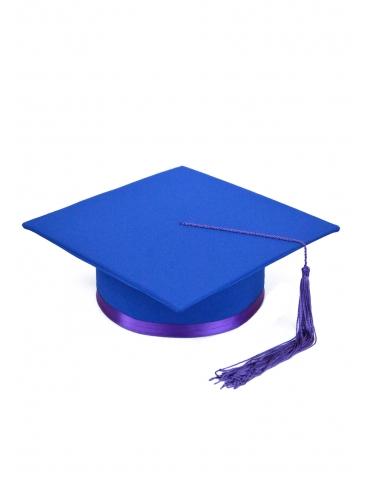 Toca absolvire albastru violet
