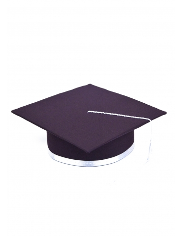 White purple graduation cap