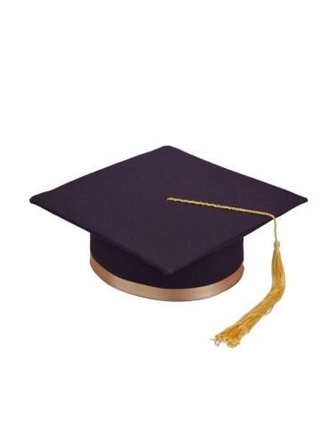 Toca absolvire violet auriu