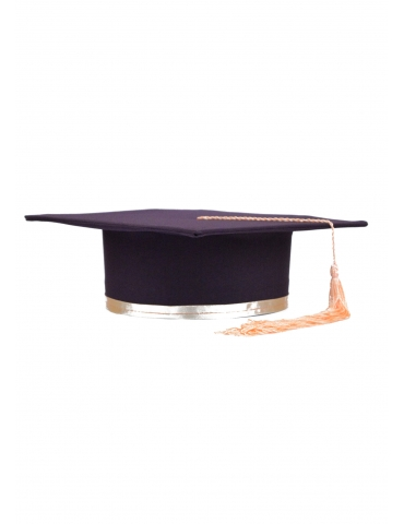 Coral purple graduation cap