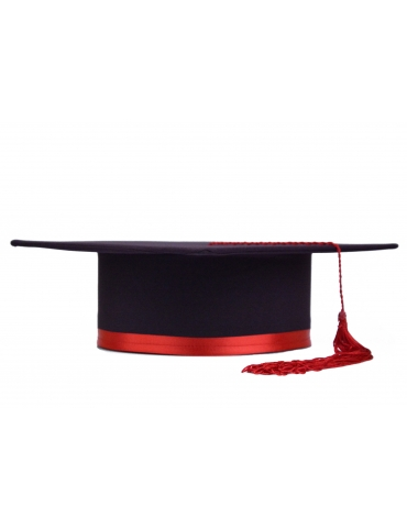 Red purple graduation cap