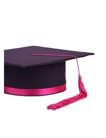 Toca absolvire violet roz