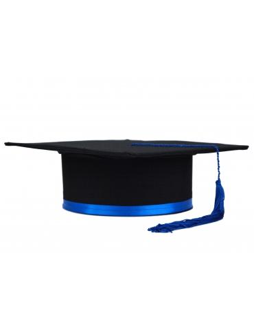Dark blue black graduation cap