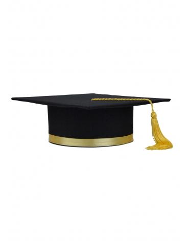 Yellow black graduation cap
