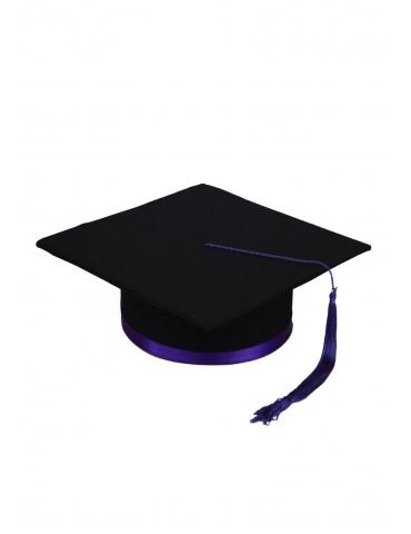 Toca absolvire negru violet