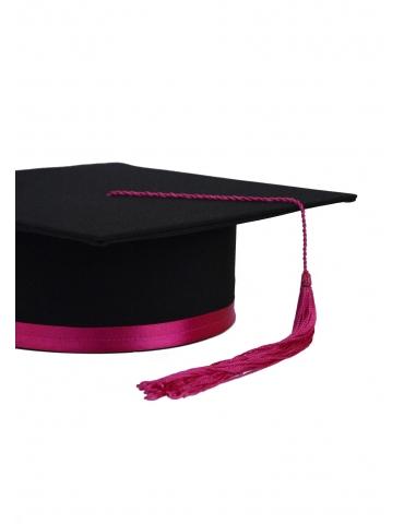 Toca absolvire negru roz