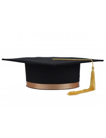 Golden black graduation cap