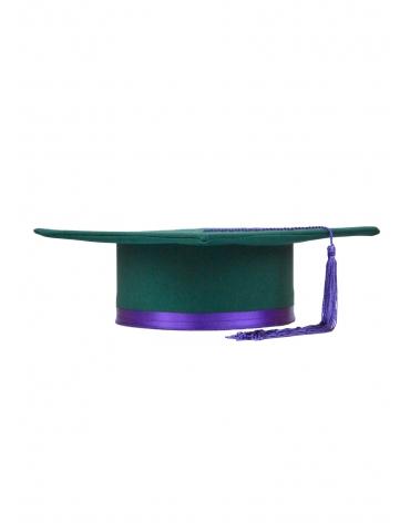 Toca absolvire verde violet