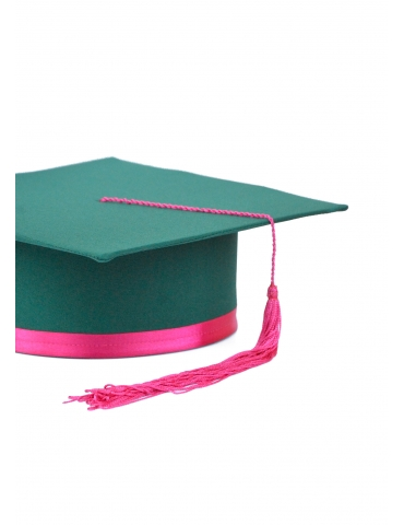 Toca absolvire verde roz