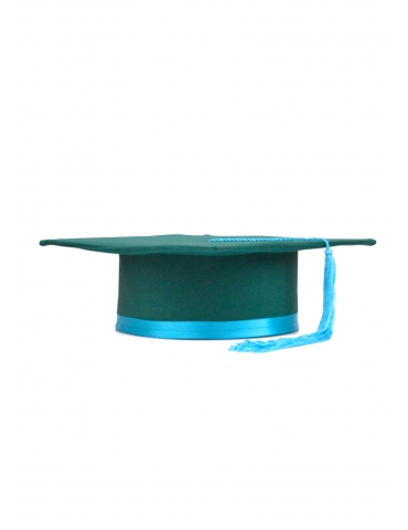 Toca absolvire verde turquoise