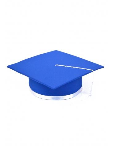 Toca absolvire albastru alb