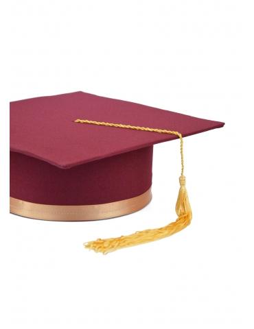 Golden cherry graduation cap