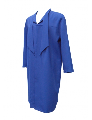 Blue graduation robe