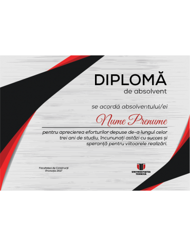 Diploma absolvire model 1