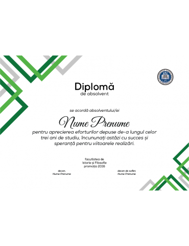 Diploma absolvire model 2