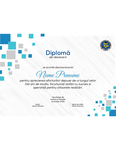 Diploma absolvire model 3