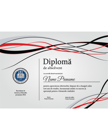 Diploma absolvire model 4