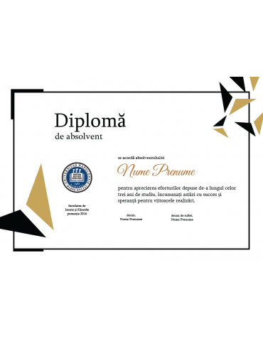 Diploma absolvire model 5