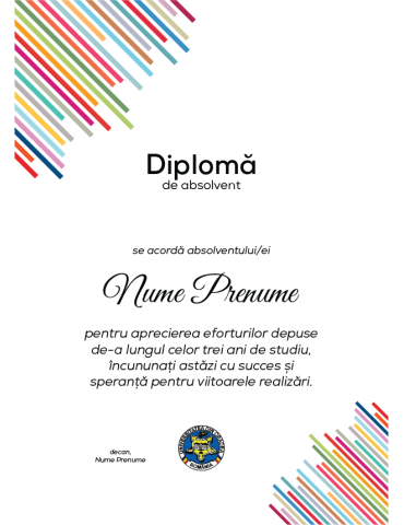 Diploma absolvire model 6