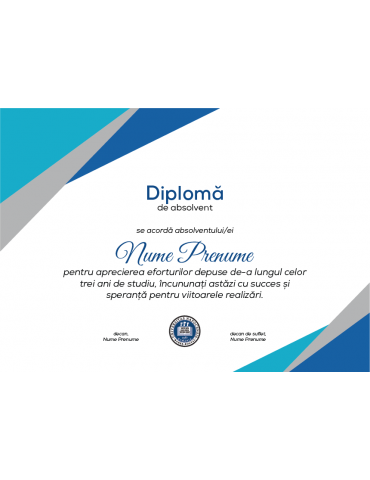 Diploma absolvire model 7