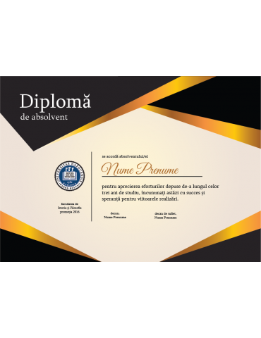 Diploma absolvire model 8