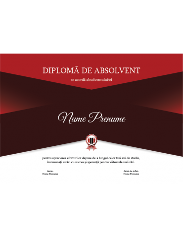 Diploma absolvire model 9