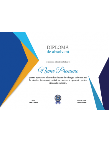 Diploma absolvire model 10