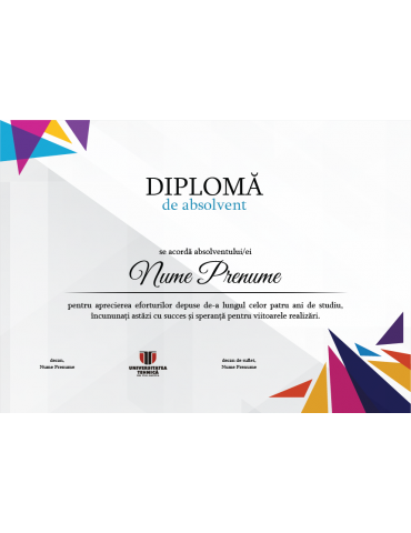 Diploma absolvire model 11