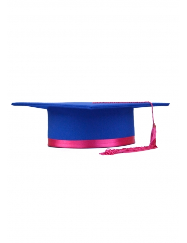 Pink Blue Graduation Cap